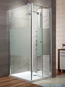 Radaway Eos KDJ-B kabina prysznicowa 80x100 prawa szkło intimato + brodzik Doros D + syfon 37443-01-12NR
