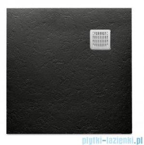 Roca Terran 80x80cm brodzik kwadratowy konglomeratowy czarny AP0332032001400