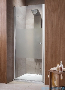 Radaway Eos DWJ Drzwi wnękowe 80 szkło przejrzyste + brodzik Delos C + syfon 37913-01-01N