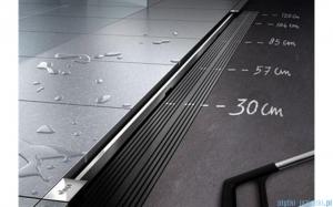 Viega Advantix Vario kompletny odpływ liniowy niski z rusztem o regulowanej długości 30-120cm chrom mat 721671+686284