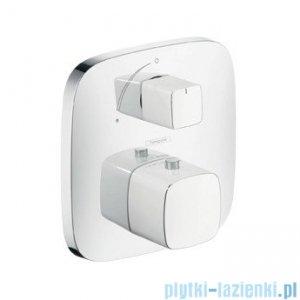 Hansgrohe PuraVida Bateria termostatowa podtynkowa z zaworem odcinającym biały 15775400