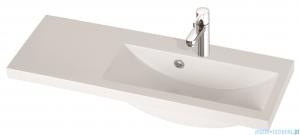 Marmorin umywalka nablatowa Talia 90P, 90 cm prawa z otworem biała 270090922011