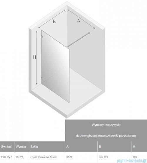 New Trendy Avexa kabina Walk-In 90x200 cm przejrzyste EXK-1542