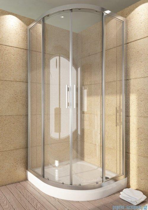 SanSwiss Top-Line TOPR Kabina prysznicowa półokrągła 90cm profil srebrny TOPR550900107