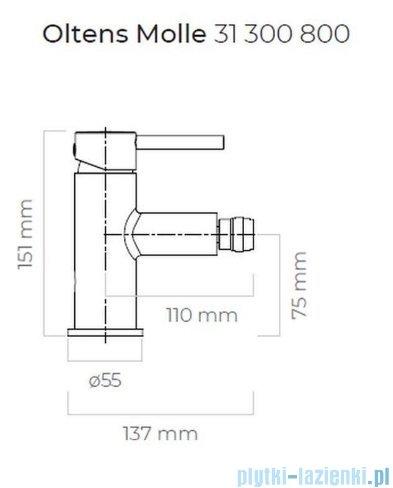 Oltens Molle bateria bidetowa złota 31300800