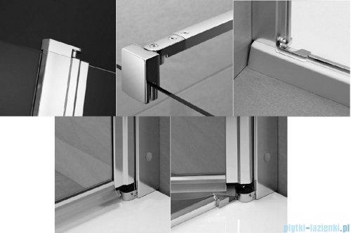 Radaway Eos II KDJ kabina prysznicowa 80x80 prawa szkło przejrzyste + brodzik Delos C + syfon 3799420-01R/3799430-01L/SDC0808-01