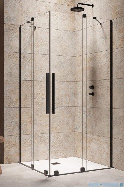 Radaway Furo Black KDD kabina 110x120cm szkło przejrzyste 10105110-54-01L/10105120-54-01R
