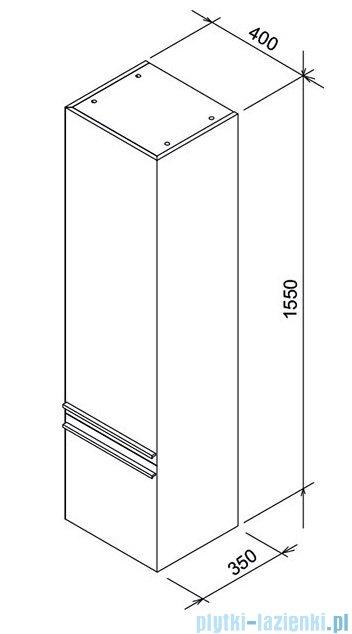 Ravak Clear słupek boczny 40 lewy biały/orzech X000000762