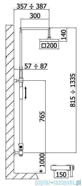 Paffoni Kolumna prysznicowa chrom Elys ZCOL634CR