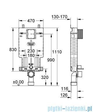 Grohe Uniset zestaw do WC spłuczka WC 38643001