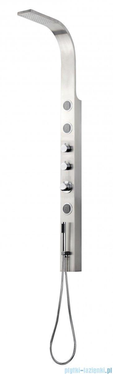 Deante Toscano panel natryskowy z baterią termostatyczną stal szczotkowana NOT 051K