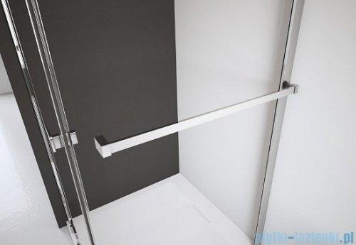 Radaway Euphoria KDJ Kabina prysznicowa 90x80 lewa szkło przejrzyste + brodzik Argos D + syfon 383612-01L/383241-01L/383051-01/4AD89-01