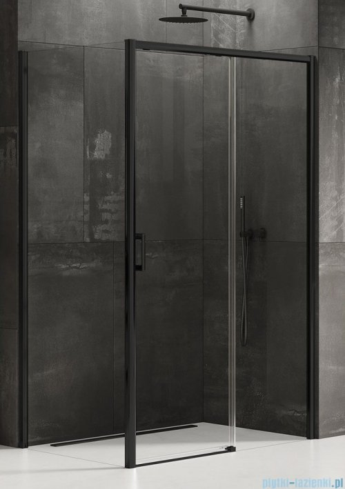 New Trendy Prime Black kabina prostokątna 150x100x200 cm prawa przejrzyste D-0327A/D-0130B