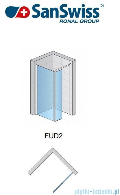 SanSwiss Fun Fud2 kabina Walk-in 90cm profil połysk FUD209005007