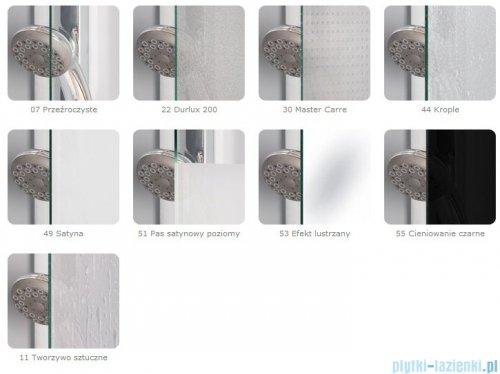 SanSwiss Pur PUR2 Drzwi 2-częściowe wymiar specjalny profil chrom szkło Satyna PUR2SM21049