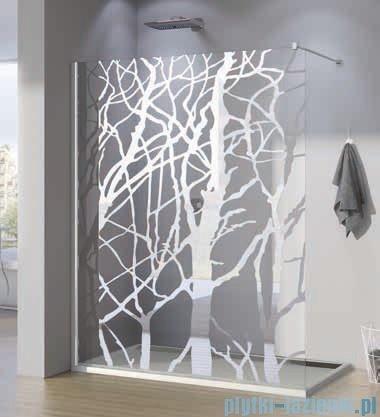 SanSwiss Walk-in Pur PDT4P Kabina 140x200cm szkło dekor drzewo PDT4P1401062