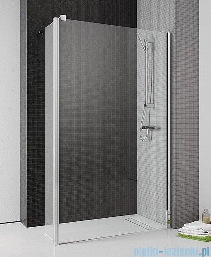 Radaway Eos II Walk-in kabina prysznicowa 90 prawa szkło przejrzyste + brodzik Delos C + syfon