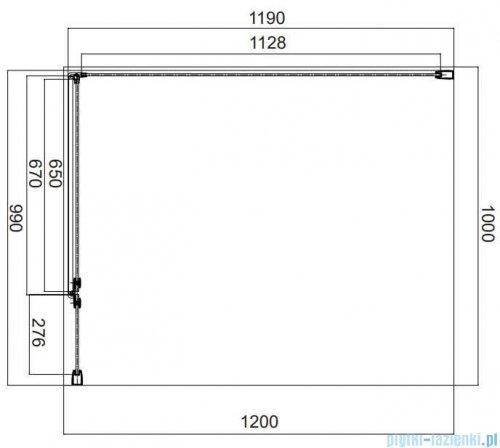 Omnires Manhattan kabina prostokątna 100x120cm szkło przejrzyste MH1012CRTR