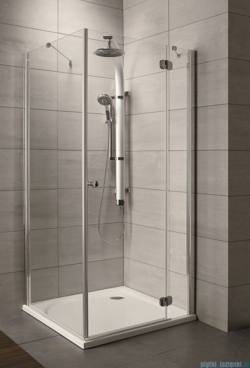 Radaway Torrenta Kdj Kabina prysznicowa 100x90 prawa szkło przejrzyste + brodzik Doros D + syfon