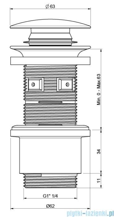Excellent korek klik-klak do syfonu umywalkowego chrom ARIN.1485.01CR