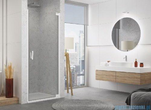 SanSwiss Cadura White Line drzwi wahadłowe 100cm jednoczęściowe prawe z profilem przyściennym biały mat CA1CD1000907
