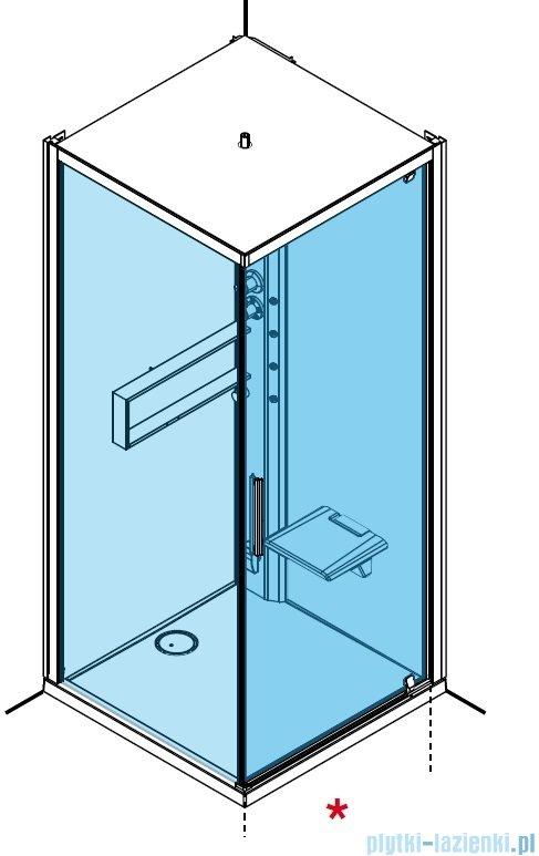 Novellini Glax 2 2.0 kabina z hydromasażem 90x90 prawa total biała G22GF90DT1-1UU