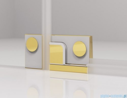 SanSwiss Cadura Gold Line drzwi wahadłowe 90cm jednoczęściowe prawe z polem stałym CA13D0901207