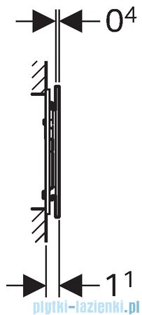 Geberit Sigma70 przycisk spłukujący do WC przedni Umbra 115.620.SQ.1