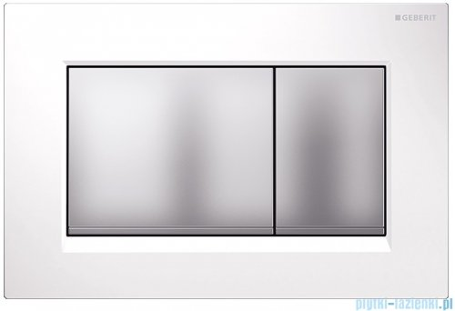 Geberit Sigma30 Przycisk uruchamiający przedni biały/chrom matowy/chrom matowy 115.883.KL.1