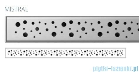Wiper Premium Slim Mistral Odpływ liniowy 90 cm z kołnierzem ruszt