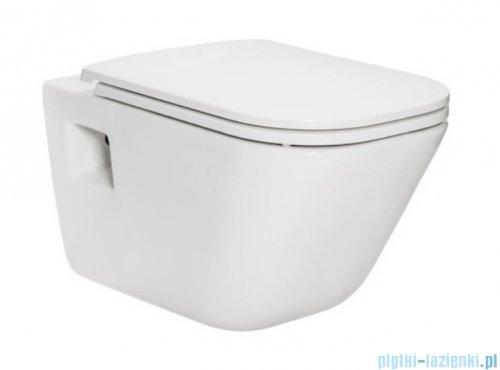 Roca Gap miska WC wisząca MaxiClean + deska wolnoopadająca Slim