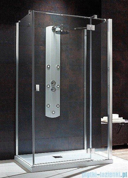 Radaway Kabina prysznicowa Essenza KDJ+S 90x80x90 prawa szkło przejrzyste + brodzik Doros D + syfon