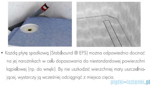 Schedpol brodzik posadzkowy podpłytkowy ruszt Stamp 100x90x5cm 10.010/OLKB/SP