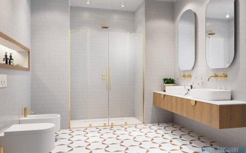 Radaway Furo Gold DWD drzwi prysznicowe 130cm szkło przejrzyste 10108363-09-01/10111317-01-01