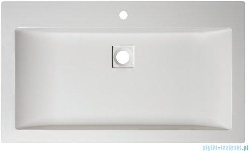 Sanplast Space Mineral umywalka prostokątna nablatowa z otworem Unbo-M/SPACE 80x47x8 cm biała 640-290-1400-01-000