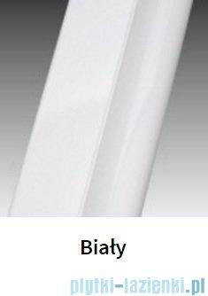 Novellini Ścianka Kabiny prysznicowej LUNES 87 cm szkło przejrzyste profil biały LUNESA87L-1D