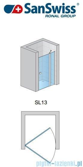 SanSwiss Swing Line SL13 Drzwi prysznicowe 140cm profil połysk SL1314005007