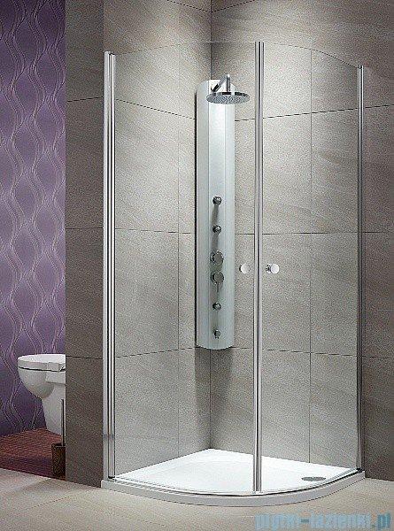 Radaway Eos PDD kabina prysznicowa 90x90 szkło przejrzyste + brodzik Delos A + syfon