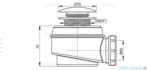 Alcaplast syfon brodzikowy Ø52 CLIK/CLAK  metal A465-50