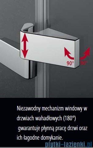 Kermi Tusca drzwi wahadłowe 1-skrzydłowe z ścianką stałą lewe 90 cm TU1FL09020VPK