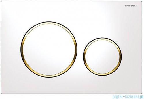Geberit Sigma20 Przycisk uruchamiający biały/złoty/biały 115.882.KK.1