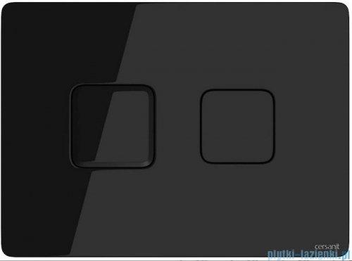 Cersanit Accento Square przycisk spłukujący pneumatyczny 2-funkcyjny szkło czarne S97-058