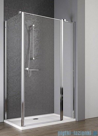 Radaway Eos II KDJ kabina prysznicowa 90x90 prawa szkło przejrzyste + brodzik Delos C + syfon