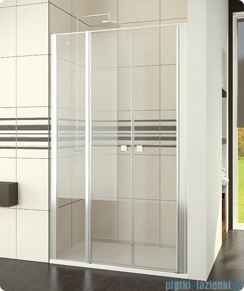 SanSwiss Swing-Line Drzwi 2-częściowe ze ścianką stałą w linii 80cm SL3208000107