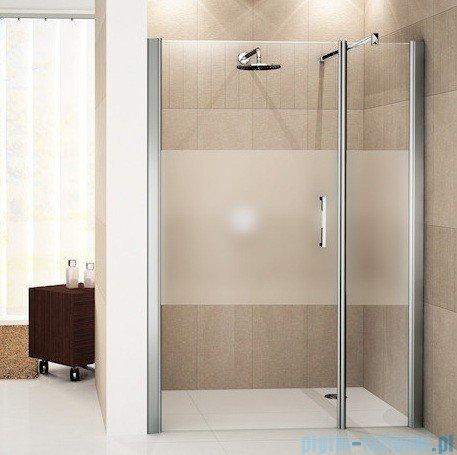 Novellini Drzwi do wnęki z elementem stałym GIADA G+F 150 cm lewe szkło przejrzyste profil srebrny GIADNGF150S-1B