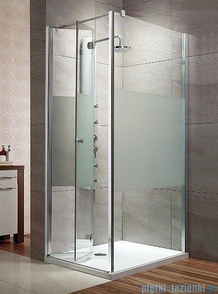 Radaway Eos KDJ-B kabina prysznicowa 80x100 lewa szkło intimato + brodzik Doros D + syfon