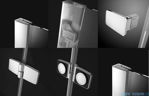 Radaway Fuenta New Kdj kabina 80x80cm lewa szkło przejrzyste + brodzik Doros C + syfon