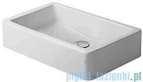 Duravit Vero umywalka stawiana szlifowana bez przelewu bez półki na baterię 600x380 mm 045560 00 00