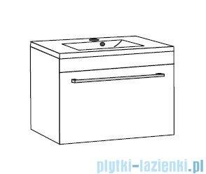 Antado Variete ceramic szafka z umywalką ceramiczną 72x43x40 czarny połysk 670488/666788