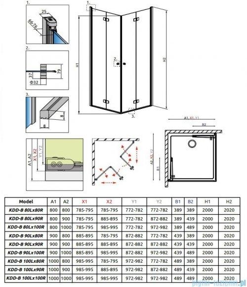 Radaway Fuenta New Kdd-B kabina 80cm część prawa szkło przejrzyste 384070-01-01R